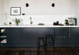 black kitchen cabinets with marble countertops photo 7 of 9 in tired of the all white trend embrace the