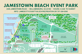 Virginia Capital Trail Map by Jamestown Beach Event Park To Reopen For Memorial Day Weekend
