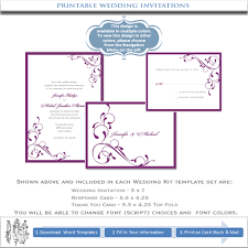 hallmark wedding invitation printable free our purple printable