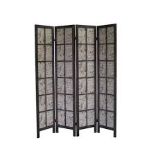 shelves room divider 67 x 60 paris folding screen 4 panel