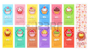 calendar for 2017 year with sweets week starts sunday delicious