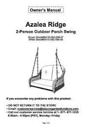 Better Homes And Gardens Azalea Ridge 4 Piece Patio Better Homes And Garden Azalea Ridge 2 Person Outdoor Swing
