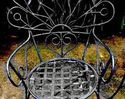 wrought iron chairs etsy