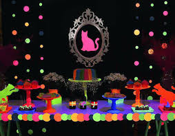 neon party ideas charming neon party decoration neon cat tween birthday party via