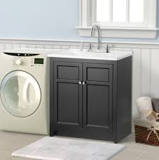palermo 24 in laundry sink with cabinet u0026 faucet kit home depot