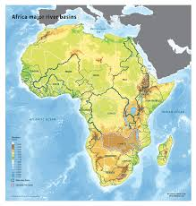 Africa Map Rivers Africa Major River Basins Grid Arendal