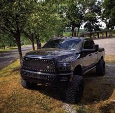 blacked out dodge truck lifted trucks on retweet if you want this blacked out