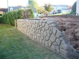 Patio Retaining Wall Ideas Decorative Concrete Retaining Walls Stamped Concrete Patio