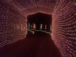 Winter Lane Light Flurries by Candy Cane Lane Christmas Light Park In Louisiana Southern Living
