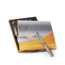 wolfgang puck kitchen knives wolfgang puck bistro elite 6 stainless steel steak knife set