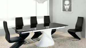 designer glass and gloss and marble dining table and chairs youtube