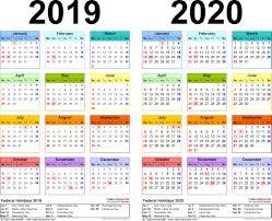 calendar 2019 2020 happyeasterfrom