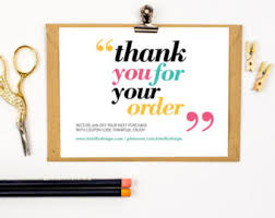 thank you for your order card printable instant