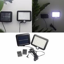 solar powered sensor security light 5pcs lot ip65 56 led solar powered outdoor garden motion sensor