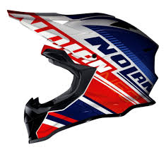 blue motocross helmet nolan mx 53 motocross mx helmet flaxy white blue red