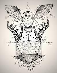 owl dotwork tattoo by marymarylp tattoo pinterest owl