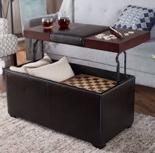 storage bench ottoman lift top coffee table leather accent storage