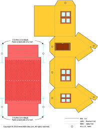printable model house template printable paper house craft templates