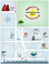 macy s thanksgiving day parade map and route look at