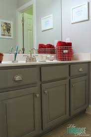 Painting A Bathroom Cabinet - traditional americana guest bathroom makeover the turquoise home