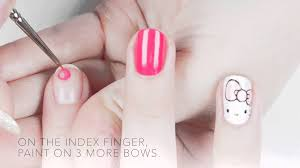 hello bows hello by opi hello bows nail tutorial