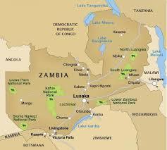 map of zambia zambia travel map on zambia reservations