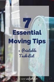 7 essential moving tips free printable task list