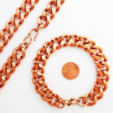 curb link necklace images Men 39 s heavy duty copper cuban chain set set79 curb link copper jpeg