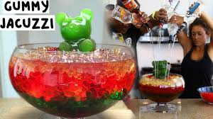 giant cocktail ultimate vodka gummy bear jungle juice jacuzzi tipsy bartender