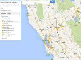 Map Of Sacramento Map Of Cute Critters At Zoos Aquariums Around Roseville Sacramento