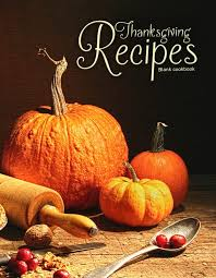 blank cookbook thanksgiving recipes 100 page blank recipe book