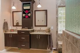 double sink vanity with middle tower double vanity bathroom remodel pinterest double vanity