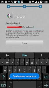 remove fix email address format error in lock for