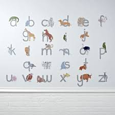 exciting kids wall decals blogalways new kids wall decals abc animals decal