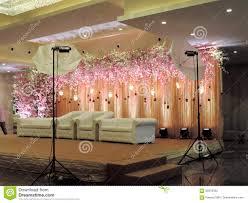 Wedding Reception Stage Decoration Images Decorated Wedding Reception Stage At Traditional Hindu Wedding