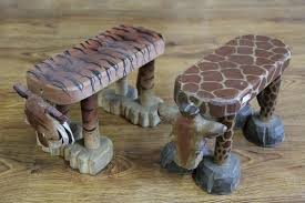 1pcs animal small wooden bench handmade sculpture gift bench wood