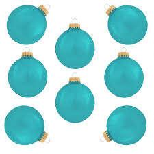 pale turquoise glass ornaments set of 8 glass sets sets