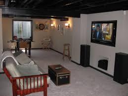 creative of inexpensive unfinished basement ideas basement ideas