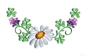daisy floral border 1 embroidery design