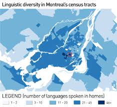 Language Map Of America by Maps Tell Story Of Montreal U0027s Changing Linguistic Landscape