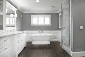 wood plank tile bathroom contemporary with bathroom mirror
