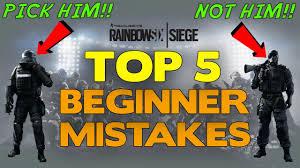 top siege auto rainbow six siege tips top 5 beginner mistakes