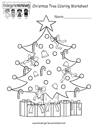 free printable christmas tree coloring worksheet for kindergarten