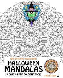halloween mandala coloring page eye of newt printable