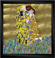 pattern art famous the kiss stained glass art glass pinterest