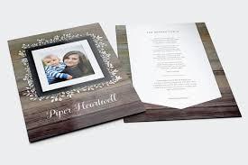 Beautiful Funeral Programs Memory Press Funeral Program Designs