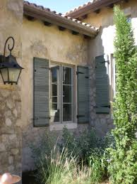 milk paint shutters hand carved decorative concrete stone with a