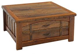 Rustic Coffee Tables With Storage Barnwood Heritage Sawtooth Coffee Table Rustic Coffee Tables