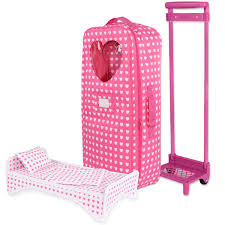 target black friday our generation doll doll travel carrier trolley with foldable bed and accessories fits