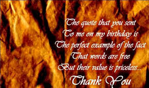 Happy Birthday Thank You Quotes Thank You Quotes For Friends Thank You Note To A Friend